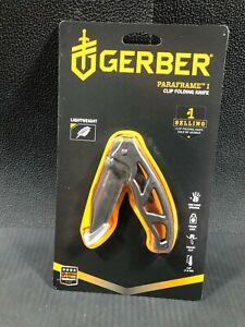 Gerber Gear 22-48446 Paraframe I Folding Pocket Knife, Serrated Edge, Grey