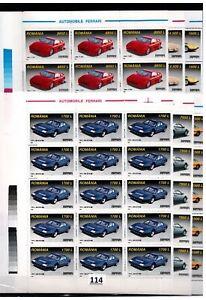 // 15X ROMANIA - MNH - FERRARI - TRANSPORT - CARS - 1999