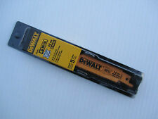 DEWALT DW4807 4-Inch 14TPI Straight Back Bi-Metal Reciprocating Saw Blade (5-Pa.