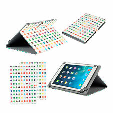 Stylish Folio Leather Carry Case Cover Sleeve Stand for Apple iPad Air 1 & 2 Multi Coloured Spots