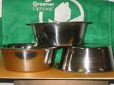Bowl, STAINLESS STEEL, 1 PINT, Cereal, Dog, Cat, Soup, Food Prep, Mixing, F