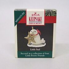 "1990 Hallmark Miniature Ornament "" Little Seal "" 2nd in Collector Series"