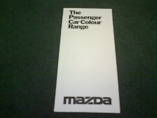 1977 1978 MAZDA COLOUR CHART 323 818 616 929 UK BROCHURE