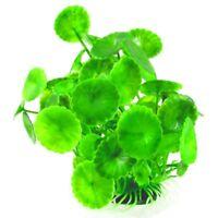 Herbe/plante aquatique artificielle en plastique Decoration pour aquarium V E3W1