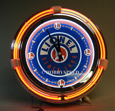 LIONEL NEON PUB CLOCK TRAIN ROOM SIGN w plug christmas present logo 9-41028 NEW