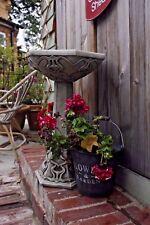(NEW) Large Art Nouveau Deco Style Bird Bath,Concrete stone ,Garden ornament