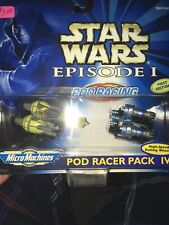 BRAND NEW Micro Machines Star Wars Episode I Pod Racer Pack IV First Edition