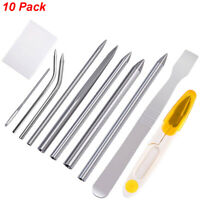10 Pack Paracord Bracelet Stainless Steel Fid Lacing Stitching Needles Tool Set