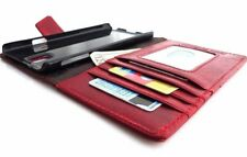 genuine vintage leather Case for Samsung Galaxy Note 3 book wallet red bracket s