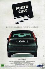 Publicité Advertising 1998 Fiat Punto Cult