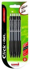Uni-Ball Uniball haga clic en gel retráctil Bolígrafo Negro Paquete de 5 Nuevos
