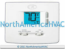 CTC 62100N Digital Home AC HP Furnace Thermostat 2H/1C 2 Heat 1 Cool