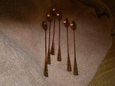 Vintage Aluminium Ice Tea Spoons (6), Peachy Gold, Usa
