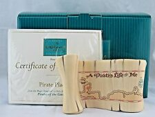 """WDCC """"Pirate Plaque"""" Scroll from Disney's Pirates of the Caribbean in Box COA"""