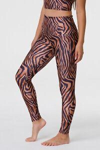 FP Movement Onzie M / L Leggings High Rise Tiger Print Orange Black Stretch