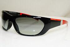 Authentic PRADA Mens Vintage Sunglasses Black LINEA POSSA SPS 04H 7OV-3M1 29749