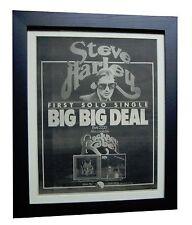 STEVE HARLEY+Human+Psychomodo+Deal+ORIG 1974 POSTER AD+FRAMED+FAST GLOBAL SHIP