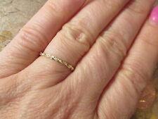 14 KT Yellow Gold Diamond Cut Rope Band Ring Lightweight Thin NEW Size 6