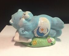 RARE American Greetings Ceramic Bedtime Blue Care Bear Figurine From Late 80's