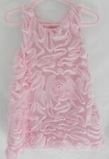 Nannette  Girls Sleeveless Pink Roses Design Dress Size 2T