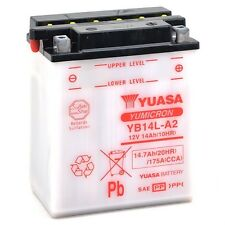 Batterie Moto Yuasa type HONDA 750 CB750K Four YB14L-A2 12v 14.7Ah 175A ACIDE