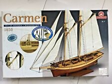 CONSTRUCTO 1/80 CARMEN 1850 COMPLETE WITH FITTINGS WOODEN MODEL KIT 80703 NIB