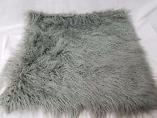 """West Elm Mongolian Lamb Pillow Cover - Platinum (Square) 26"""" $169"""
