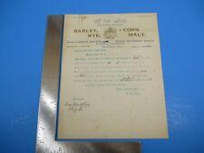 Antique 1899 Barley Corn Rye Malt R. S. Lutz. Letterhead and Letter M3378