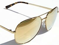 NEW* MICHAEL KORS AVIATOR Tortoise GOLD Mirror 58mm MK5009 Rodinara Sunglass