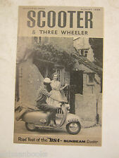 1959 BSA SCOOTER 3 THREE WHEELER 250 SUNBEAM ROAD TEST BROCHURE ORIGINAL