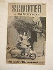1959 BSA SCOOTER 3 THREE WHEELER 250 SUNBEAM ROAD TEST BROCHURE ORIGINAL