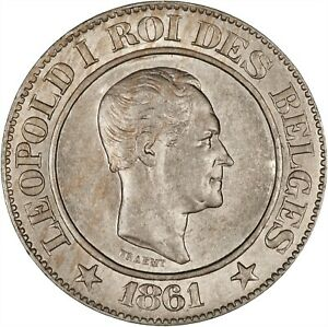 Belgium 1861 20 Centimes BU