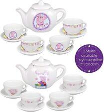 HTI Toys Official Peppa Pig Porcelain Tea Dinner Set | Includes Teapot, Saucers