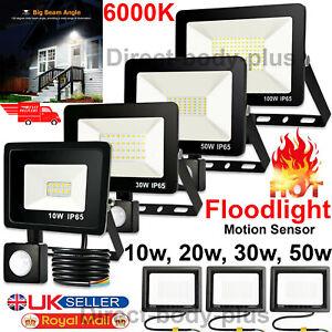 LED FLOOD FLOODLIGHT SECURITY OUTDOOR LIGHT PIR SENSOR MOTION LIGHTS GARDEN LAMP