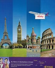 THAI AIRWAYS BANGKOK TO 13 DESTINATIONS IN EUROPE 777-300 PARIS-LONDON-ROME AD
