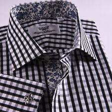 New Arrival Designed Blue Herringbone Business Shirt Easy Iron Boss Mens Formal