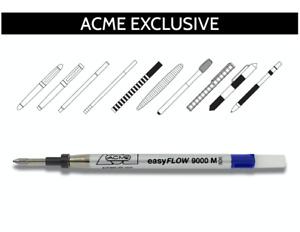 ACME Studio EASY FLOW P9000 Roller Ball Refill BLUE - NEW