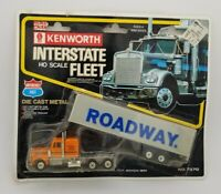 ROAD CHAMPS Interstate Roadway DIECAST KENWORTH TRACTOR TRAILER Truck HO 1/87