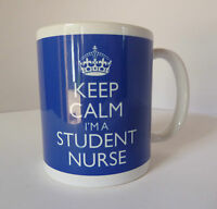 Keep Calm I'm A Student Nurse Gift Mug Cup In Carry On Style - Blue Nursing Mug