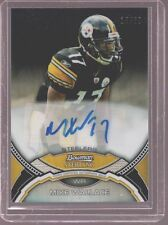 2011 BOWMAN STERLING MIKE WALLACE STEELERS AUTO BLACK REFR CARD SERIAL #ED 15/50