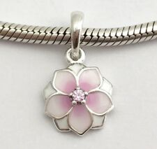 Genuine Pandora 1/2 PRICE SALE Magnolia Bloom Enamel Charm & Pandora Gift Pouch