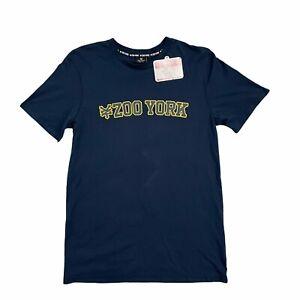 Zoo York Men's T-Shirt Size Medium BNWT Navy Blue + Free Postage