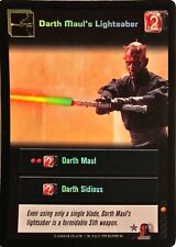 Star Wars Young Jedi CCG Jedi Council Darth Maul's Lightsaber FOIL F17