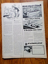1963 Evinrude Boat Motor Ad Lastest Think in Boating is the Button-Down Model