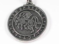 Norse Viking Warrior Horse Sleipnir Handmade Pewter Pendant Odin's magical horse