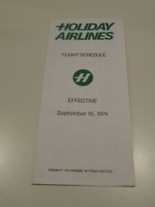 Holiday Airlines Timetable  September 15, 1974 =