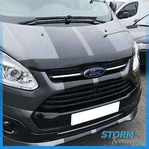 EGR Bonnet Guard Protector - Shield - Dark Smoke For Ford Transit Custom 12-17