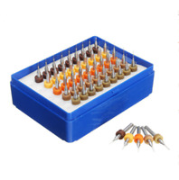 Set Drillpro 50pcs 0.25-0.45mm Tungsten Carbide Micro Drill Bits for PCB Circuit