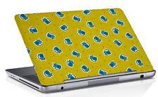"Laptop Skin Digitally Cat PrintYellow Laptop Skin Cover Vinyl Fits 14.1 to 15.6"""