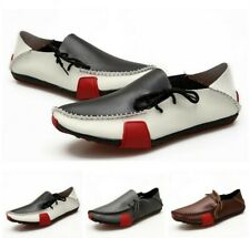 Mens Match Color Casual Pumps Flats Lace Up Loafers Driving Moccasins Shoes News